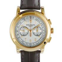 Patek Philippe Chronograph Rose gold 42mm Silver Arabic numerals