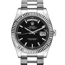 Rolex Day-Date 36 White gold 36mm Black United Kingdom, London