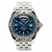 Breitling Galactic 44 Steel 43mm Blue No numerals United States of America, New York, New York