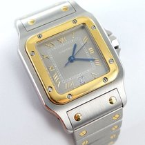 Cartier Gold/Steel 29mm Quartz Santos Galbée pre-owned