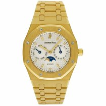 Audemars Piguet Yellow gold Automatic White No numerals 36mm pre-owned Royal Oak Day-Date