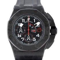 Audemars Piguet Carbon Automatic Black 44mm pre-owned Royal Oak Offshore Chronograph