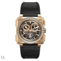 Bell & Ross Rose gold Manual winding Grey 45mm new BR-X1