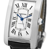 "Cartier ""Tank Americaine XL"" Strapwatch."