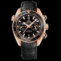 Omega Roségold Automatik 45.5mm neu Seamaster Planet Ocean Chronograph