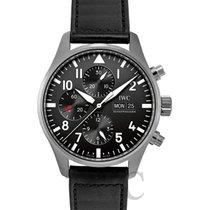 IWC Pilot Chronograph Zeljezo 43.00mm Crn