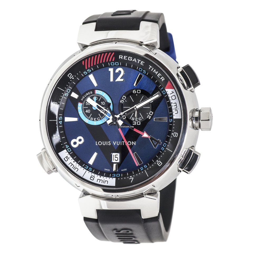 louis vuitton tambour regatte chronograph watch for 3 077 for sale from a seller on chrono24. Black Bedroom Furniture Sets. Home Design Ideas