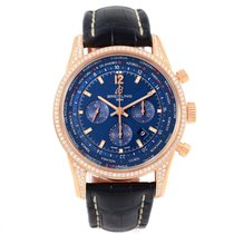 Breitling Transocean Chrono Rose Gold Diamonds Le Watch Ab0510