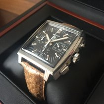TAG Heuer Monaco Chronograph, NEW Python strap and buckle