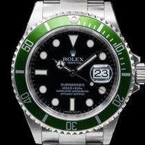 Rolex 16610LV Submariner 50th Anniversary SS Green Bezel NEW...