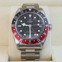 Tudor Steel Automatic Black No numerals 41mm new Black Bay GMT