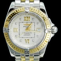 13bc9550012 Breitling Galactic 32 Or Acier 32mm Blanc Romain