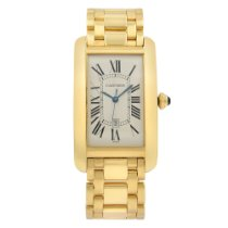 Cartier Tank Américaine Yellow gold 26,5mm Silver Roman numerals United States of America, New York, NYC