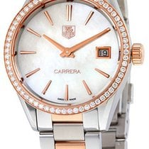 TAG Heuer Carrera Lady Gold/Steel 32mm Mother of pearl