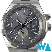 Vacheron Constantin Steel Automatic Grey Arabic numerals 42,5mm pre-owned Overseas Dual Time