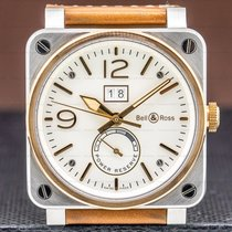 Bell & Ross Rose gold Automatic Silver 42mm pre-owned BR 03-90 Grande Date et Reserve de Marche