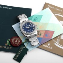 Rolex Datejust 116234-blue-roman-oyster-bnp 2004 pre-owned