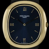 Patek Philippe 18k Yellow Gold Blue Dial Automatic Jumbo...