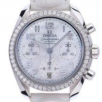 Omega Speedmaster Chronograph Stahl Diamond Perlmutt Automatik...