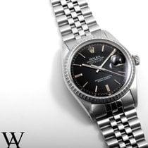 Rolex Steel 36mm DATEJUST Black Index 1980's Quickset...