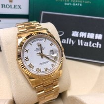 Rolex Cally - 118238 36mm DayDate President White Roman Dial...