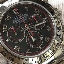Rolex Daytona Watch 116509 18k White Gold Arabic Dial Box...