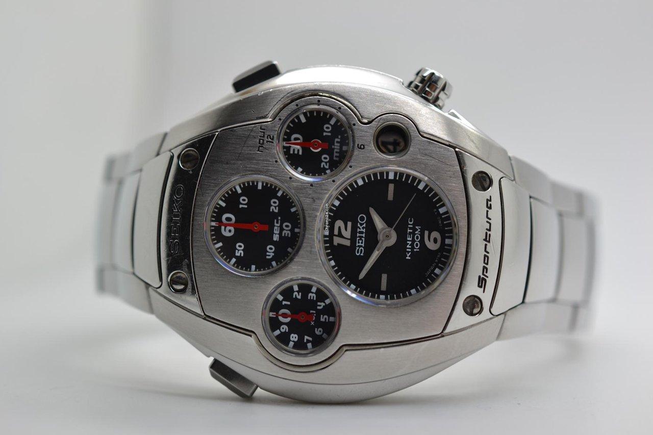 De seiko sportura kinetic slq015j stainless steel verkoop op chrono24 for Jaeger lecoultre kinetic