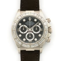Rolex White Gold Daytona Baguette Diamond Watch Ref. 116589