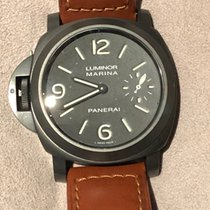 Panerai 44mm Manual winding 2009 pre-owned Special Editions Black