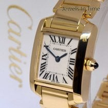 Cartier Ladies Tank Francaise 18k Yellow Gold Watch 2385 W50002N2