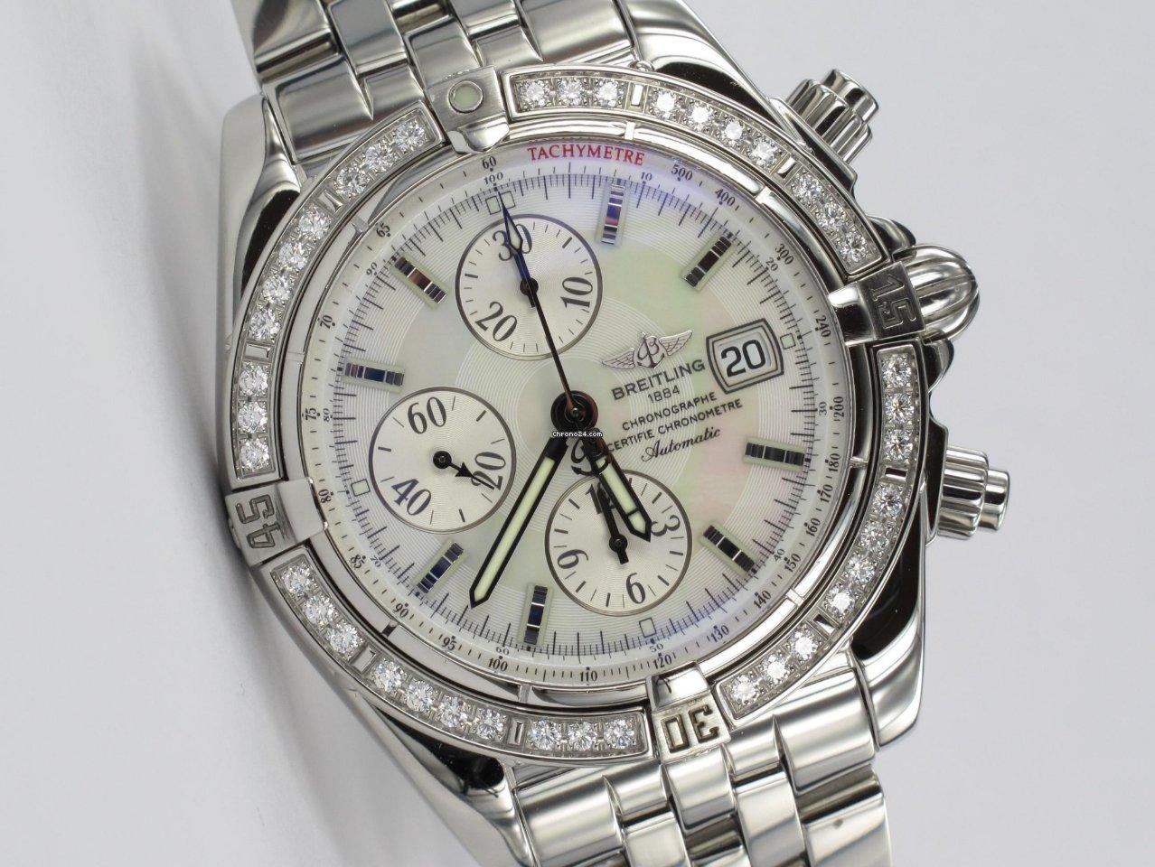 f8e8b382182 Breitling Chronomat Evolution Original Diamant-Lünette for  5