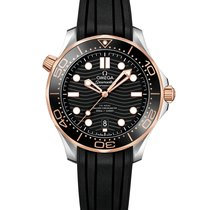 Omega 210.22.42.20.01.002 Goud/Staal Seamaster Diver 300 M 42mm nieuw