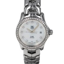 TAG Heuer Link Lady pre-owned 27mm Mother of pearl Date Steel