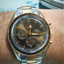 Omega Speedmaster Broad Arrow Gold/Steel 42mm Brown No numerals UAE, Dubai