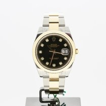 Rolex Datejust Or/Acier 41mm Champagne Sans chiffres