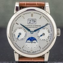 A. Lange & Söhne Saxonia White gold 38.5mm Silver United States of America, Massachusetts, Boston