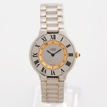 Cartier 21 Must de Cartier pre-owned 28mm Silver Gold/Steel