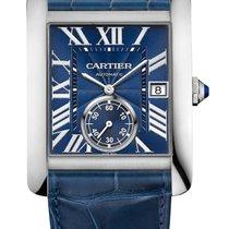 Cartier Tank MC Steel 44mm Blue Roman numerals