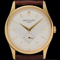 Patek Philippe Calatrava Yellow gold 37mm Silver No numerals United States of America, New York, New York