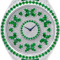 Graf White gold 38mm Quartz DISCO BUTTERFLY  EMERALD ON DIAMOND pre-owned