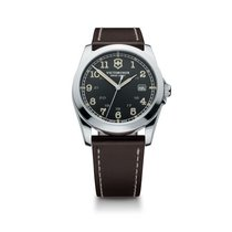 Victorinox Swiss Army Infantry dark grey dial, brown leather...