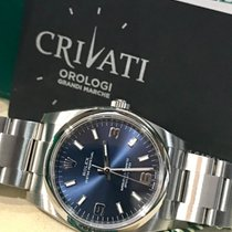 Rolex Oyster Perpetual 34 Acciaio 34mm Blu Arabo Italia, ROMA