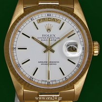 Rolex DayDate 18038 Chronometer 36mm 18k Yellow Gold Box&P...