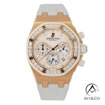 Audemars Piguet Royal Oak Offshore Lady Oro rosado 37mm Blanco Sin cifras