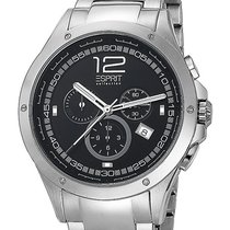 Esprit Steel 45mm Quartz EL101421F06 new