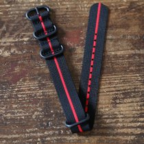 TimeMerchants Black and Red Nato 20MM