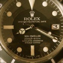 Rolex Sea-Dweller Staal 40mm Zwart Geen cijfers