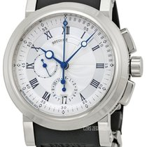 Breguet Chronograph 42mm Automatic pre-owned Marine Silver