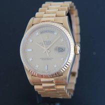 Rolex Day-Date Yellow Gold Diamond Dial 18238