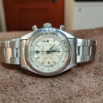 Rolex Chronograph Staal 35mm Wit Geen cijfers